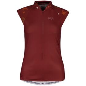 Maloja ViagravaM. Sleeveless Bike Jersey Women maroon